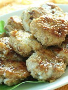 鶏ごぼう豆腐つくねの照り焼き〜バルサミコ風味〜