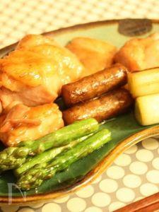 鶏と野菜のくわ焼き
