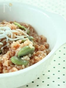 そらまめとしらすde春色玄米トマトリゾット