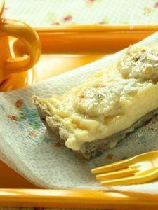 優しくて素朴な味わいのバナナカスタードタルト