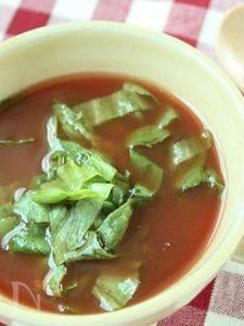 水不使用☆一人分もOK!レタスのトマトスープ