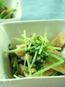 豆苗と油揚げの中華風煮びたし