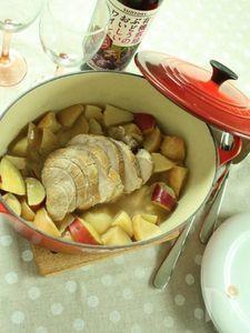 りんごとお芋と豚肉のポットロースト