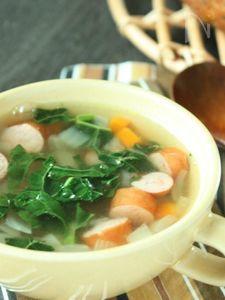 黒キャベツ入り☆コロコロ具だくさんおかずスープ