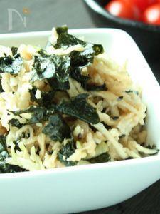 【節電レシピ】焼きのりと切り干し大根のサラダ