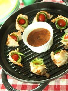 【ストウブ】夏野菜のピンチョス・バーベキューソース