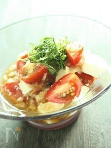ミニトマトと豆腐の和風カクテルサラダ