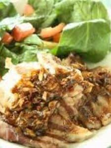 グリル豚のねぎ生姜ダレのっけご飯