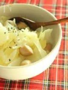 具だくさん豆乳塩麹スープ