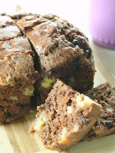 ダブルチョコバナナヨーグルトケーキ