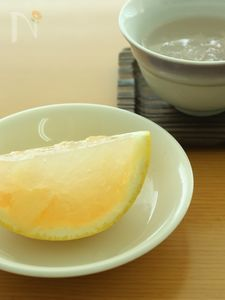 キレイがいっぱい♪グレープフルーツの寒天ゼリー