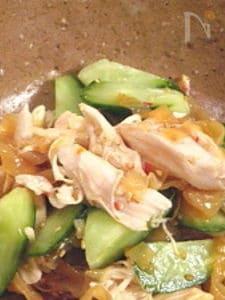 鶏ときゅうりの中華のおかず