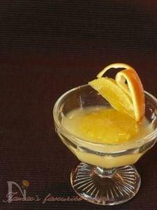 スライスオレンジのゼリー