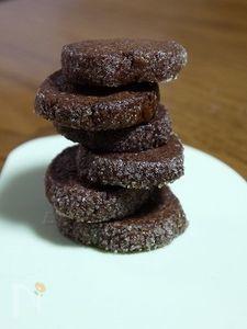 アイスボックスクッキー ココア!