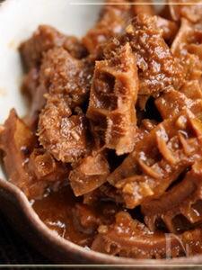 ハチノスのピリ辛味噌煮込