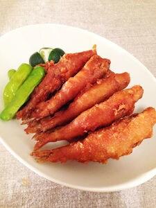 """しょうゆ風味♪北のお魚""""ちか""""の天ぷら"""
