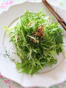 ツナ缶活用!水菜シャキシャキサラダ