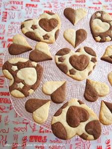 手軽★ハートの型抜チョコ&バニラクッキー