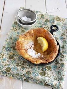 卵1個で♪カフェみたいな仕上がりのダッチベイビーパンケーキ。