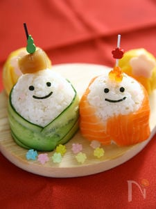 ひなまつりに!おひなさま手まり寿司!