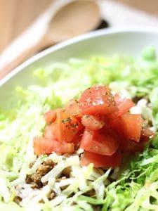 バルサミコ酢で和えたトマトが美味しい!簡単タコライス