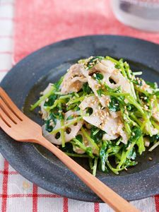 豚バラレンコンと豆苗のおかずサラダ【#作り置き#時短#弁当】