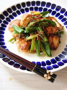豆腐とネギのサッと炒め