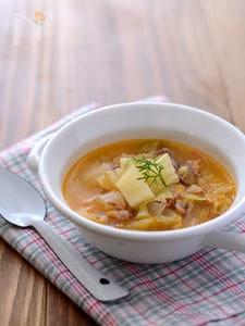 ハーブ豚こまの野菜たっぷりスープ