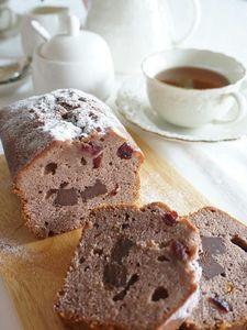 クランベリーとチョコのパウンドケーキ
