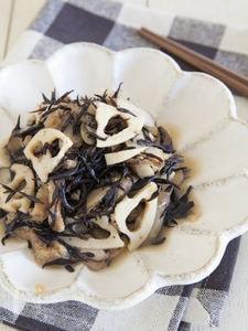 ひじきと根菜の食物繊維たっぷり煮