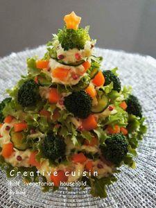 ツリー☆野菜だけのロシアン風サラダ