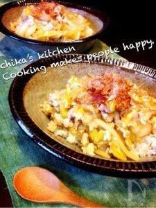 白菜と鶏ひき肉のトロトロ和風とろみあん丼