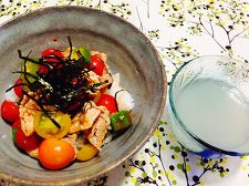 トマトの韓国風冷や汁ごはん