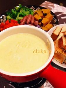 簡単お手軽♪子供と一緒に食べれるチーズフォンデュ♡