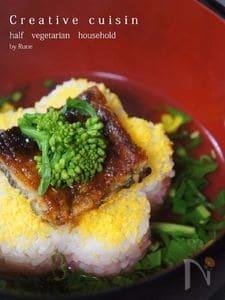 白だし昆布🌸花寿司菜の花茶漬け