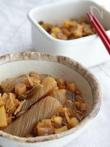 ねじりこんにゃくの炒め煮(かつお風味)