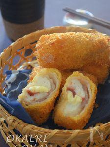 フワフワ~はんぺんの梅チーズカツ