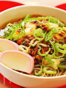 納豆と長芋のかき揚げ蕎麦