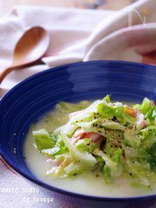 具だくさんの味噌スープ