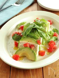 アボカドと豆腐のサラダ レモンドレッシング