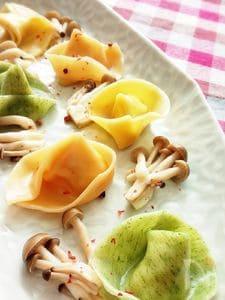 *豆腐とタラの水餃子*