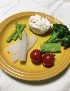 冷たいチーズフォンデュ