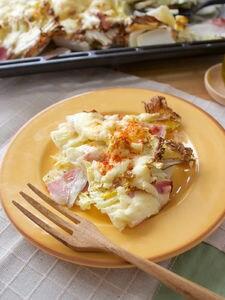 天板いっぱいに焼く☆白菜と根菜グラタン