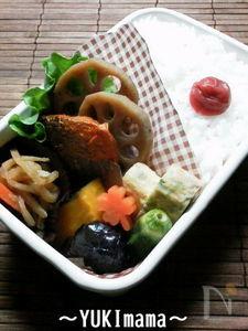 めっちゃ簡単!~鯖のソテー野菜めんつゆ煮(作り置き)お弁当~