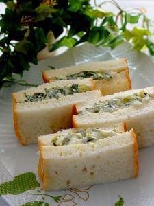 新めかぶのサンドイッチ