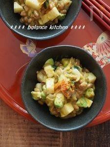【美容・健康おつまみ】アボカドと長いものキムチ納豆あえ
