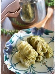 【あなわた】圧力鍋で作る「餃子の肉巻き白菜ロール煮」