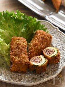 【リメイクレシピ】もっと食べたい!ズッキーニの肉詰めフライ。
