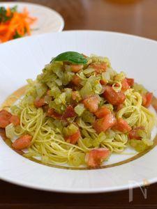バジルトマトの冷製カッペリーニ