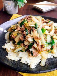 ♪簡単おこげと白菜とニラのあんかけ